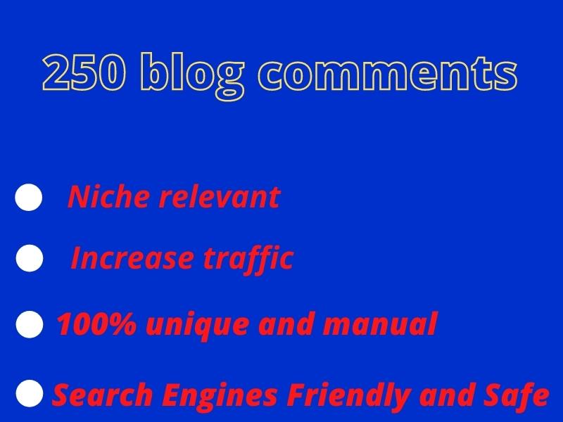 I will provide niche relevant unique blog commenting backlink or natural backlink