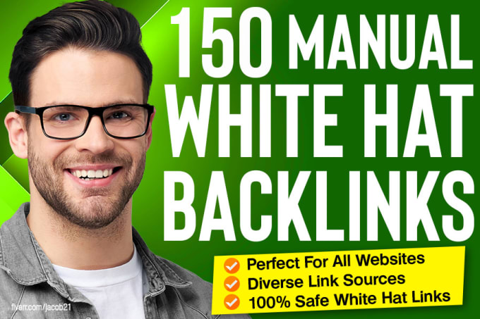 I will do 150 SEO backlinks white hat manual linkbuilding service for google top ranking