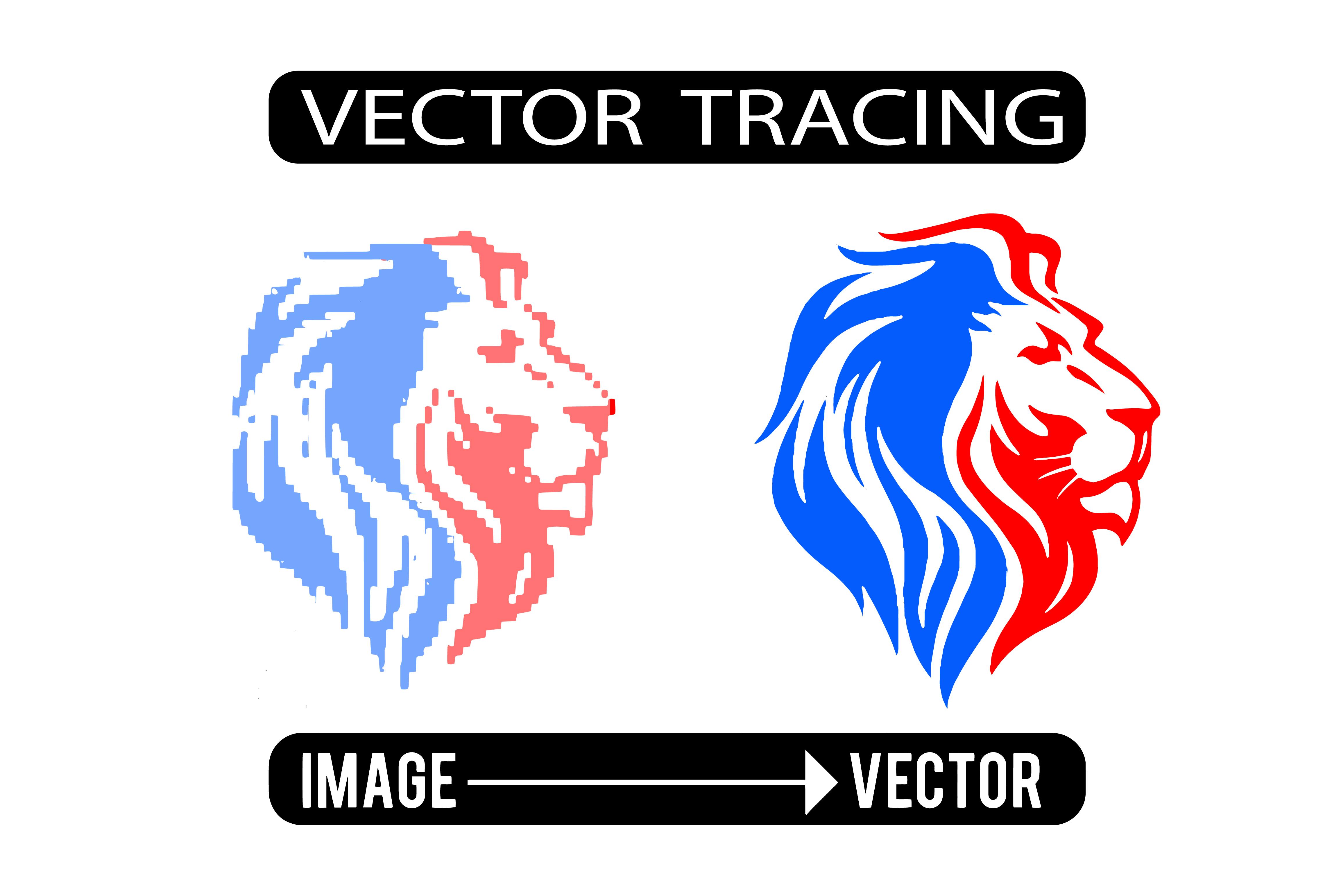 I will redraw vector tracing vectorize convert logo to vector