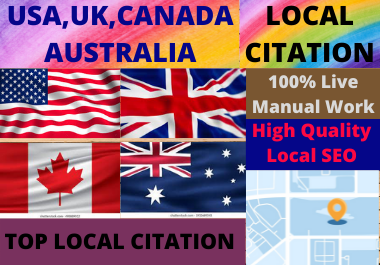 Live 30 Local Citations High Authority Website Directory Submission Local Listing.
