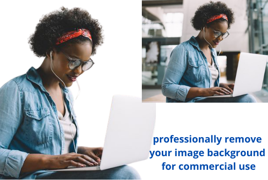 I will professionally remove your image background for commercial use