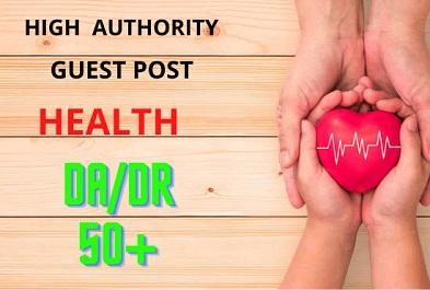 I will publish high DA guest post health
