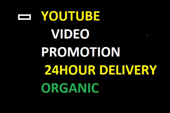 I will do organic YouTube chanel and video promotion