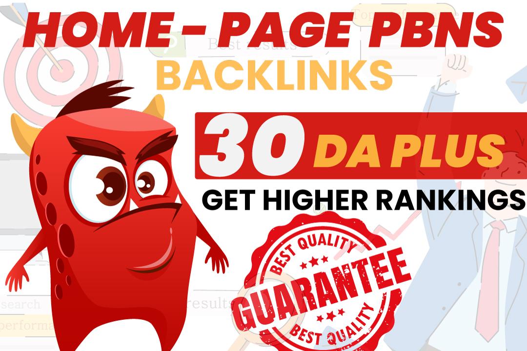Build 10 Homepage Pbn DA 50+ Backlinks With High DA PA TF CF Backlinks