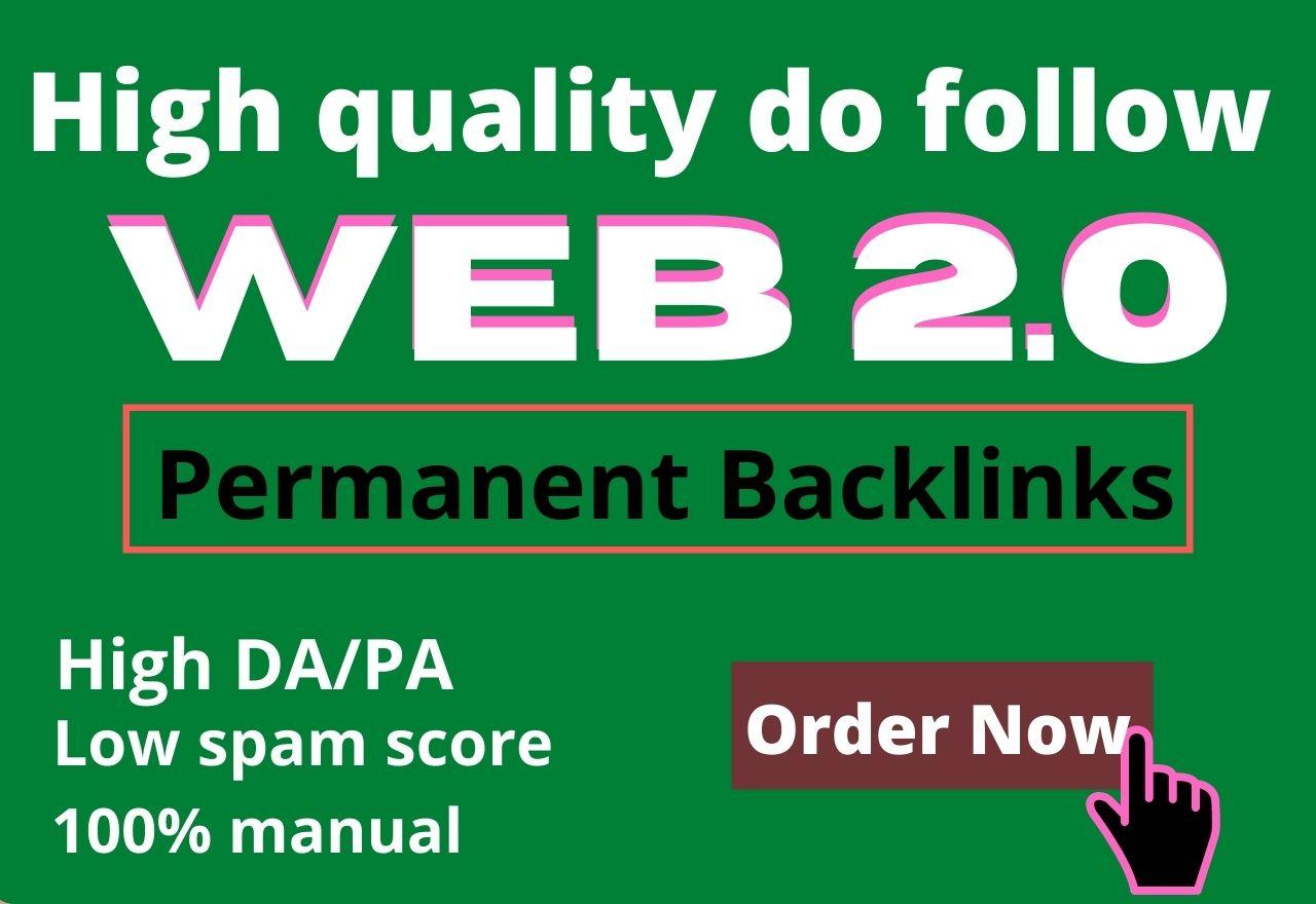 I will build 50 high DA dofollow web 2 0 backlinks