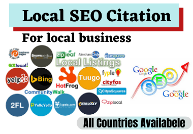 I will create top 60 live local citations USA,  UK,  UAE,  Canada for any country