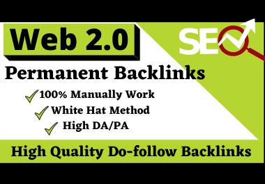 I will make 80 Web 2.0 High Authority Dofollow pure Backlinks