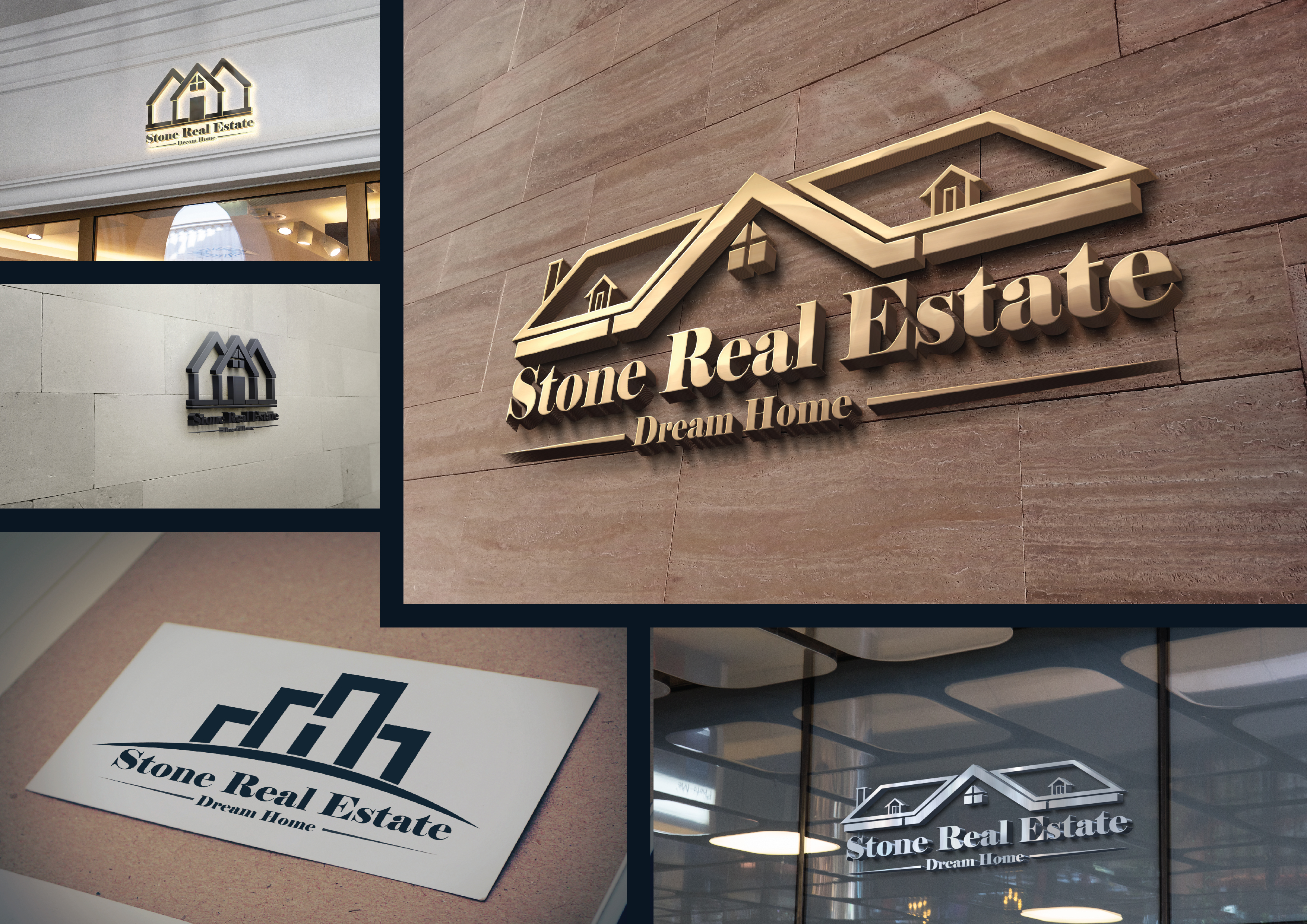 I am expert in modern luxury real estate property construction logo design