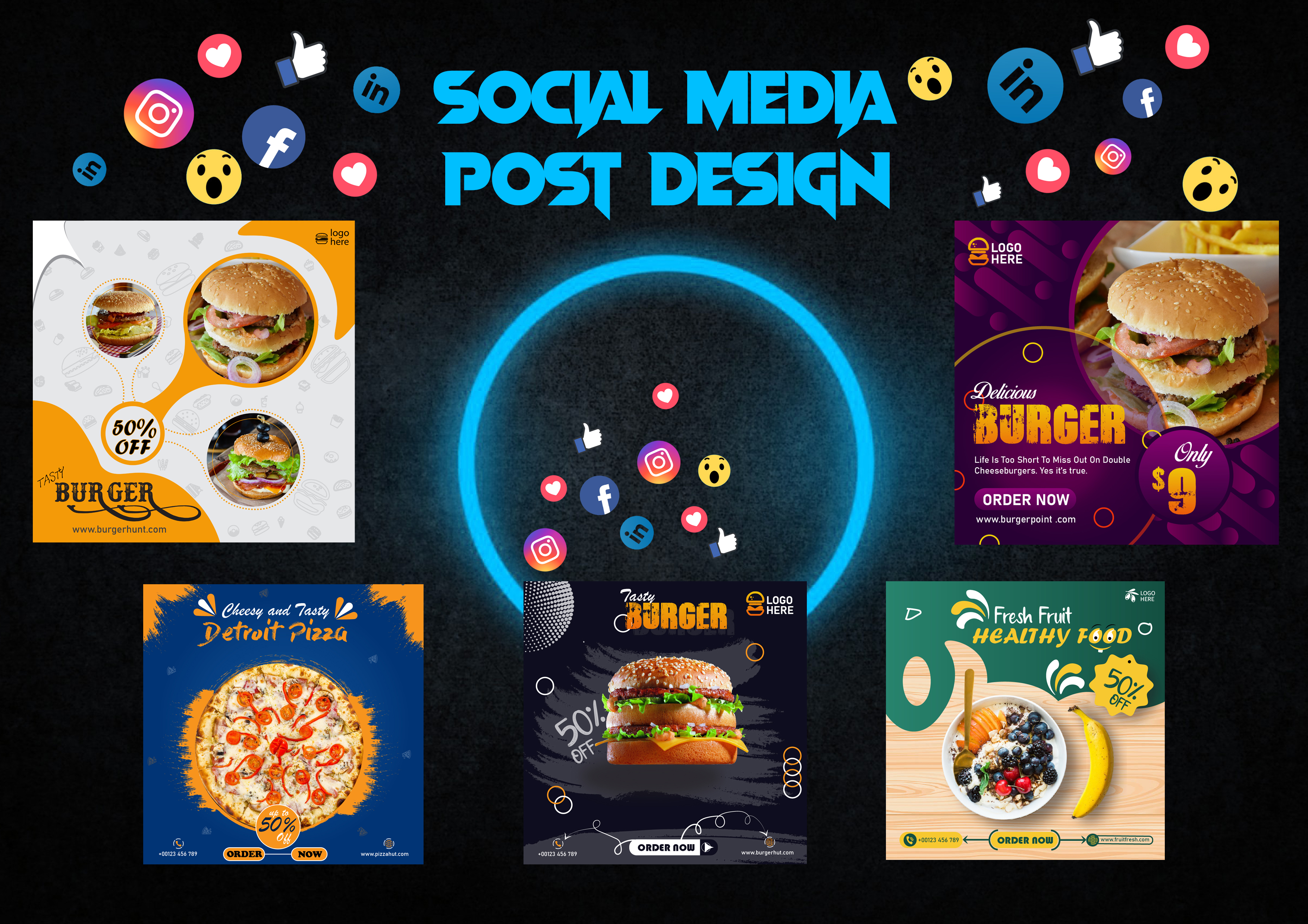 I am an expert of designing social media post and ads