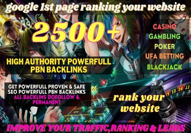 I Will Do 2500+ Powerful Backlinks for Ufa/Casino/Gambling/Poker/Betting/judi BOLA RELATED