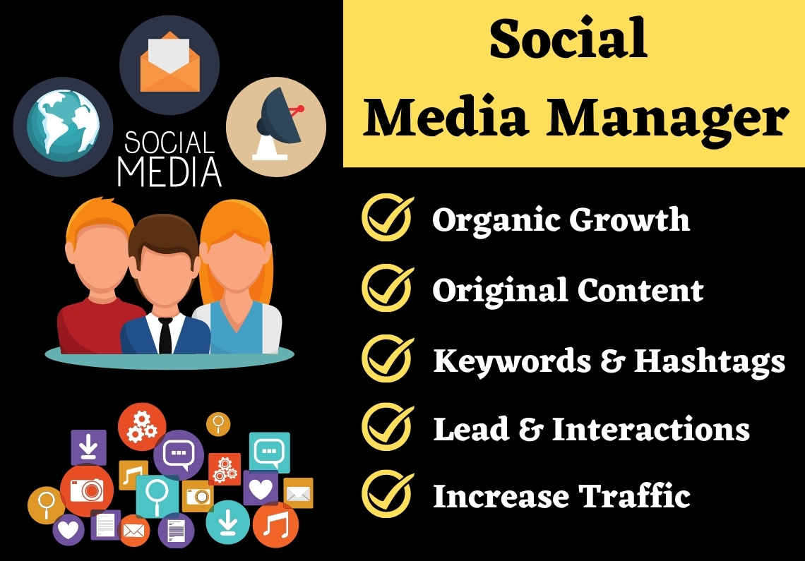 I will be your Professional Social Media Manager and Virtual Assistant