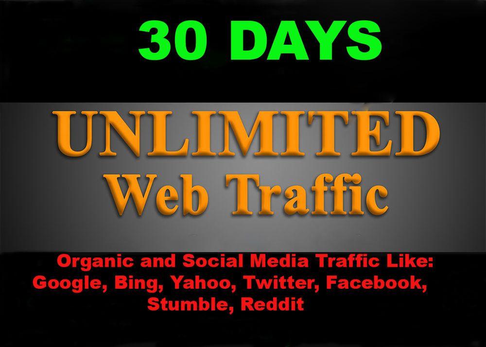 Real Human 30 Days Google Keywords Visitors Traffic