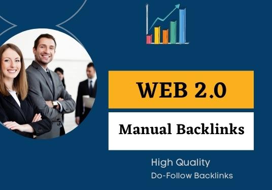 I will create manual do follow web 2 0 backlinks
