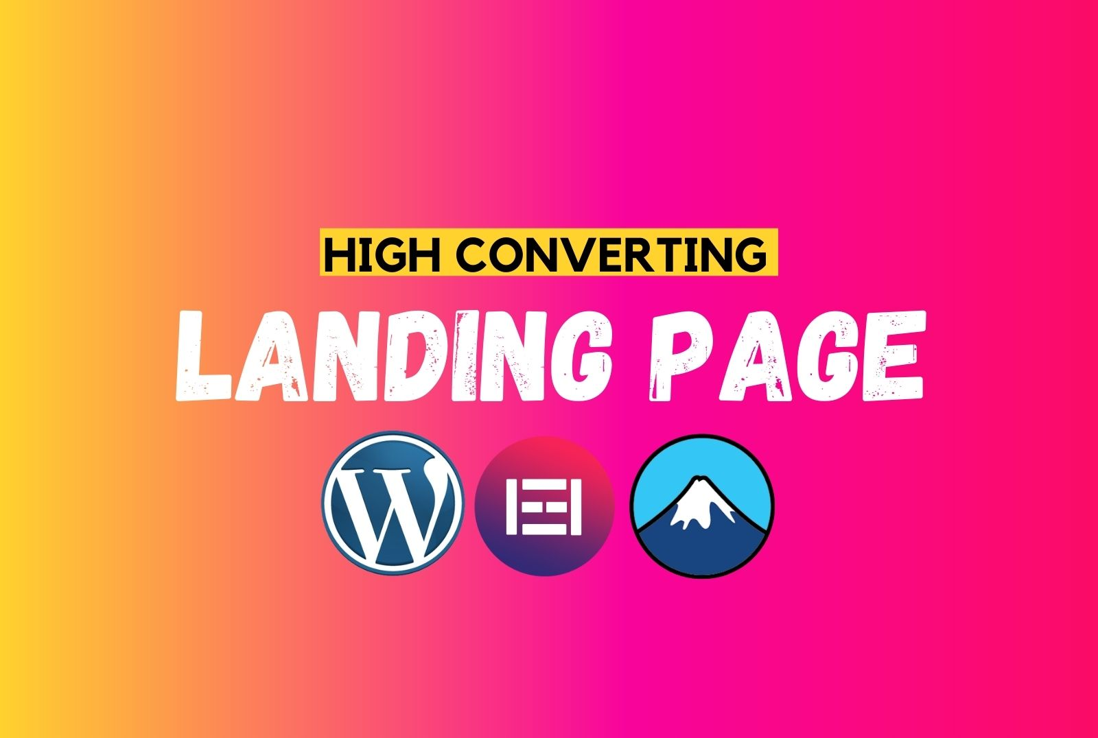 I will build elementor pro landing page in 1 hours