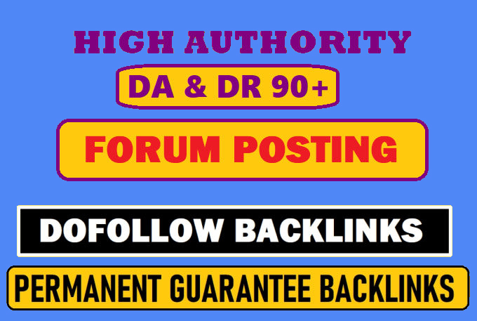 I will do 40 forum backlinks posting high quality 90 plus For Increase Traffic