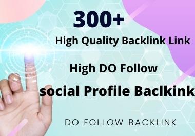 I will do high quality do follow profile backlinks to rank your site