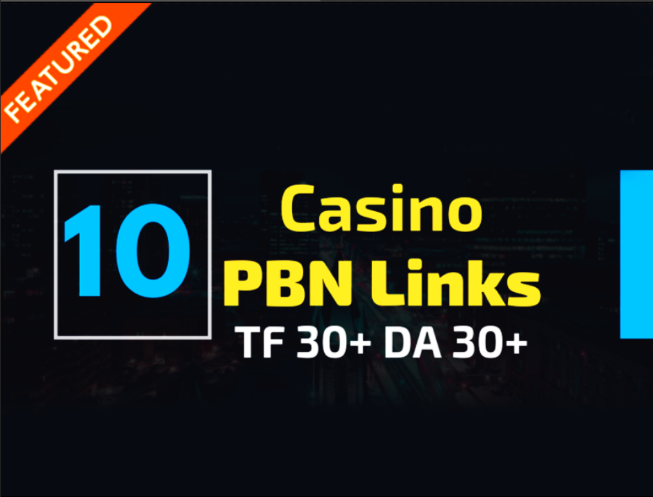 10 Casino / Poker PBN Backlinks on High Authority Sites.