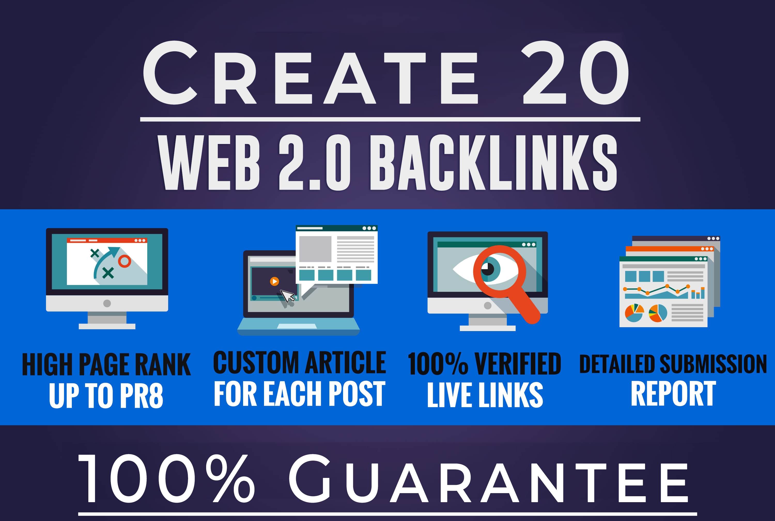 i will give you high quality web 2.0 backlinks for you