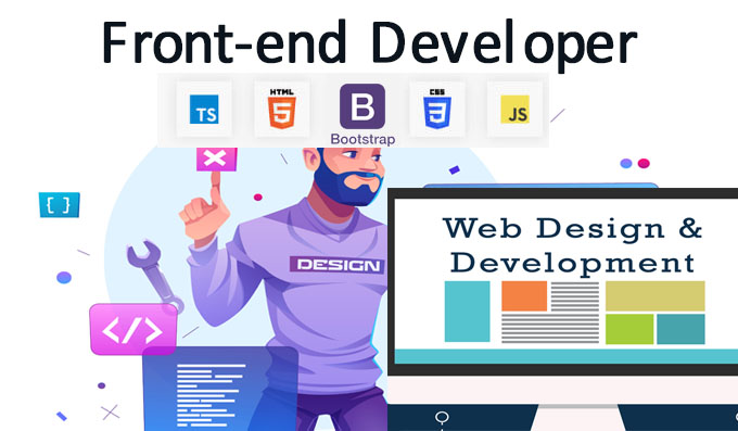 I will front end developer with html css javascript jquery bootstrap custom code