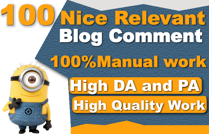 I will make 100 high quality dofollow niche relevant blog comment seo backlinks