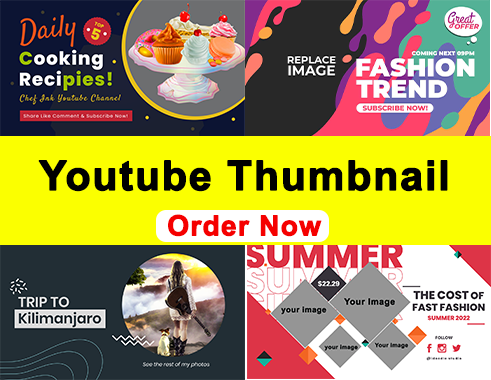 I will design an amazing YouTube thumbnail
