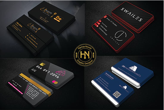 I will design elegant double sided business card