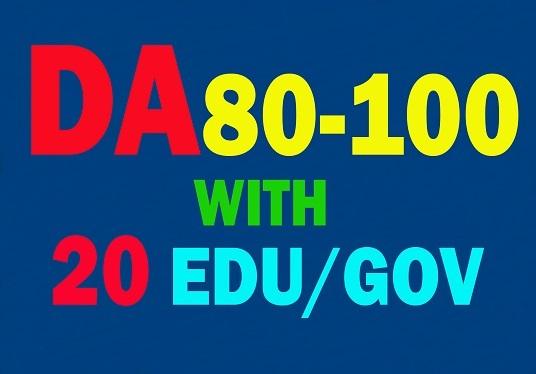 I will do 100 PR7 to PR9 and 20 EDU/GOV Safe seo backlink rank to website now