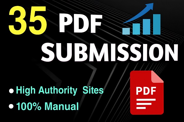 I will do 35 manual PDF Submission on top document sharing Sites