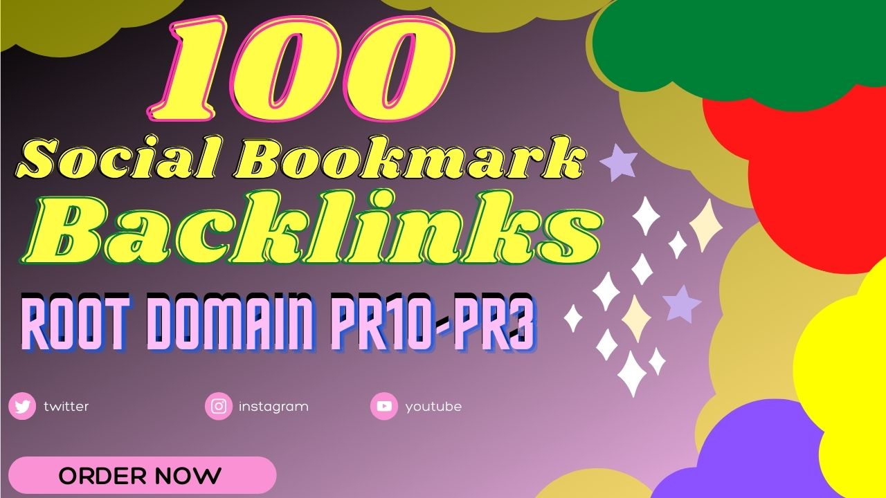 create manually 100 pr10 social bookmark backlinks
