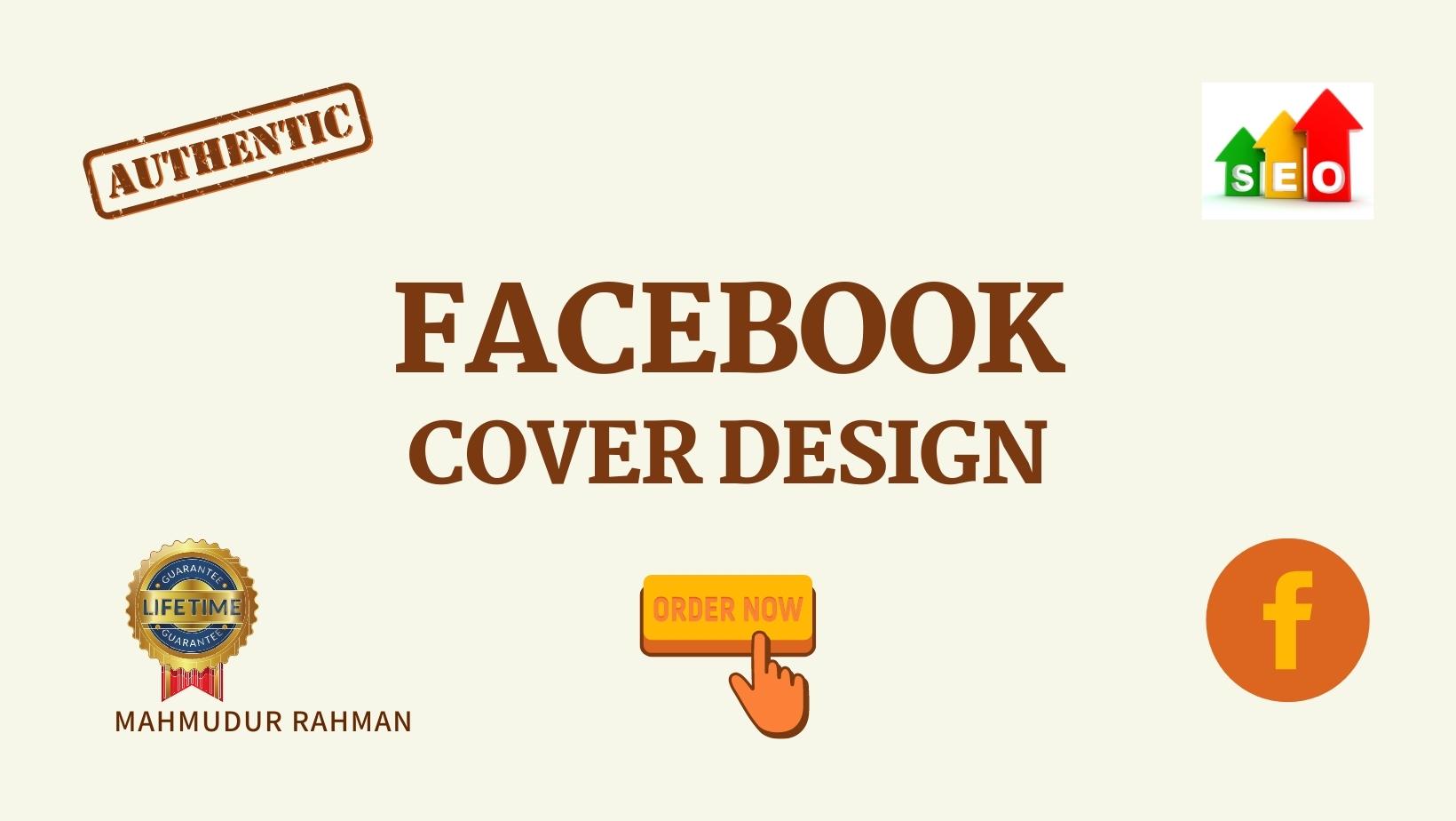 I will create & design your unique Facebook cover.