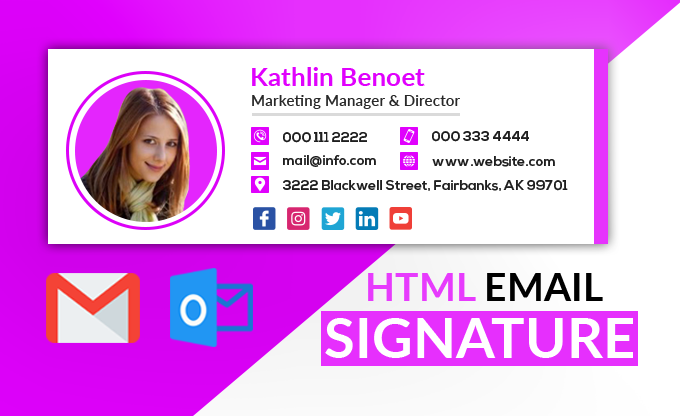 I will do clickable html signature within 2hrs