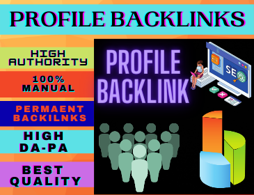 25+ Profile Backlinks High Authority Permanent Do follow unique domain white hat seo backlinks