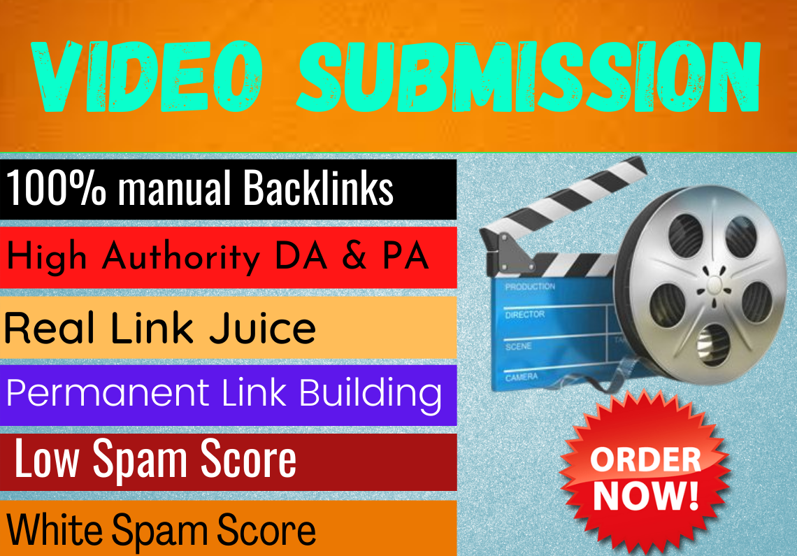 I Will Create 50 Video & Submission on Top 50 Video submission sites