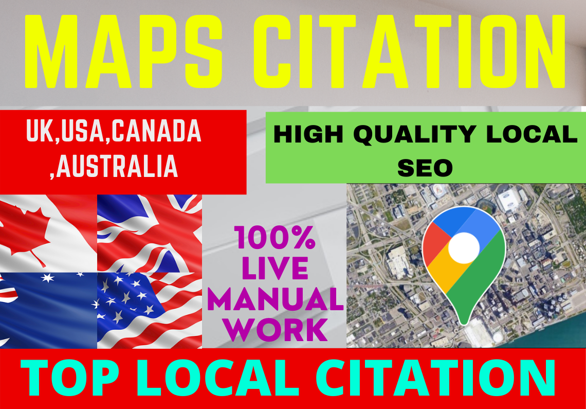 I well create live 500 google map citations For Your Local Business