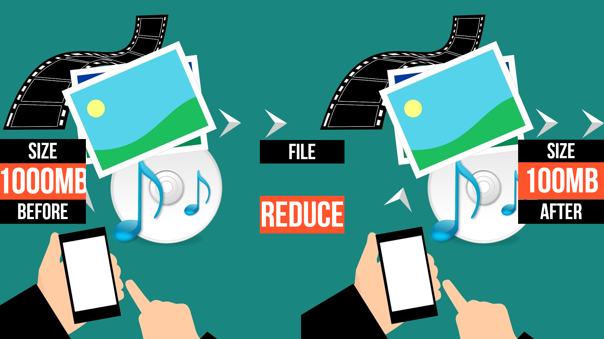 I Will Compress And Reduce Your Video Size