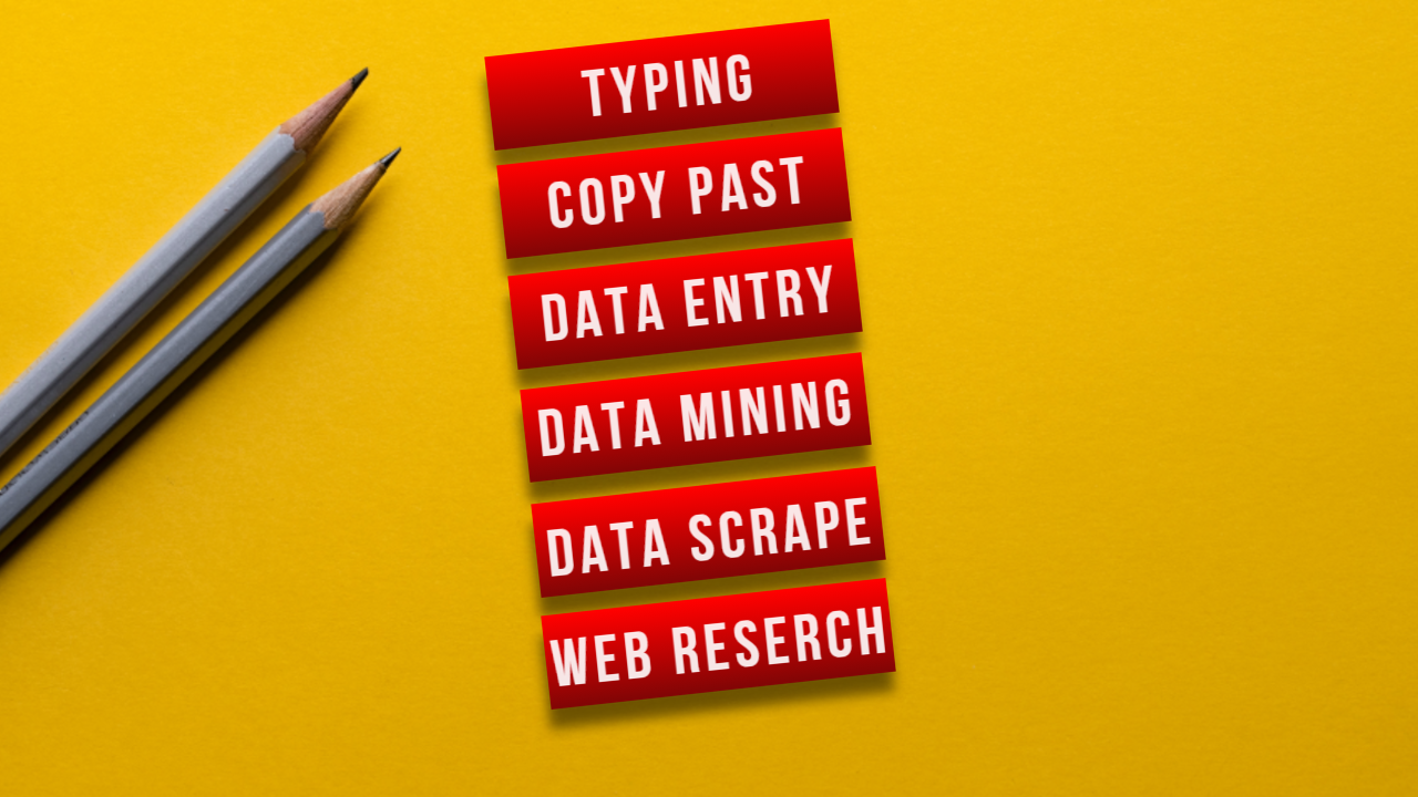 I Will Do Data Entry Data Scrapping Copy Past Most Fast