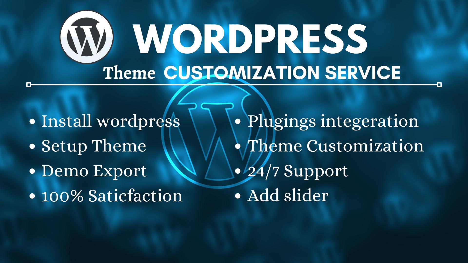 I will customize any wordoress theme