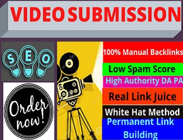 50 live Video Submission backlinks high authority permanent dofollow Live Links