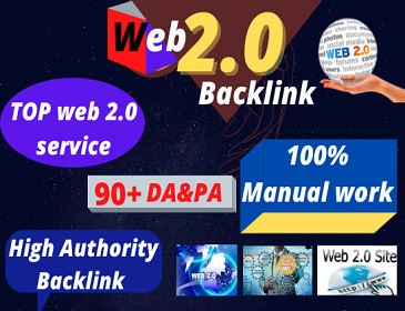 80 WEB 2.0 High Authority Permanent Contextual Backlinks White Hat SEO Link Building