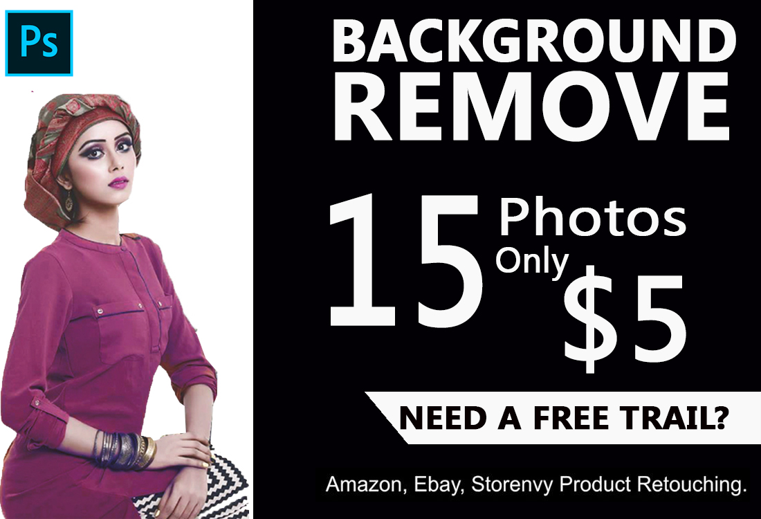 I will do photo background removal,  photoshop editing