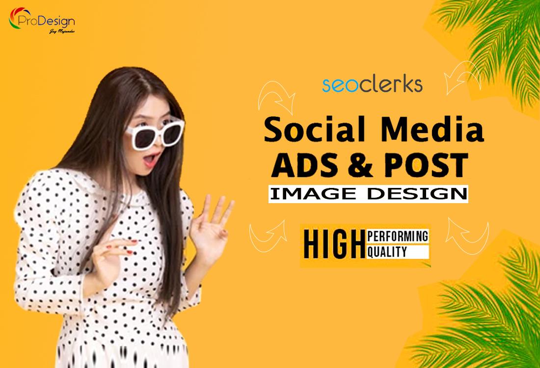 I will design social media post & ads for all social platform