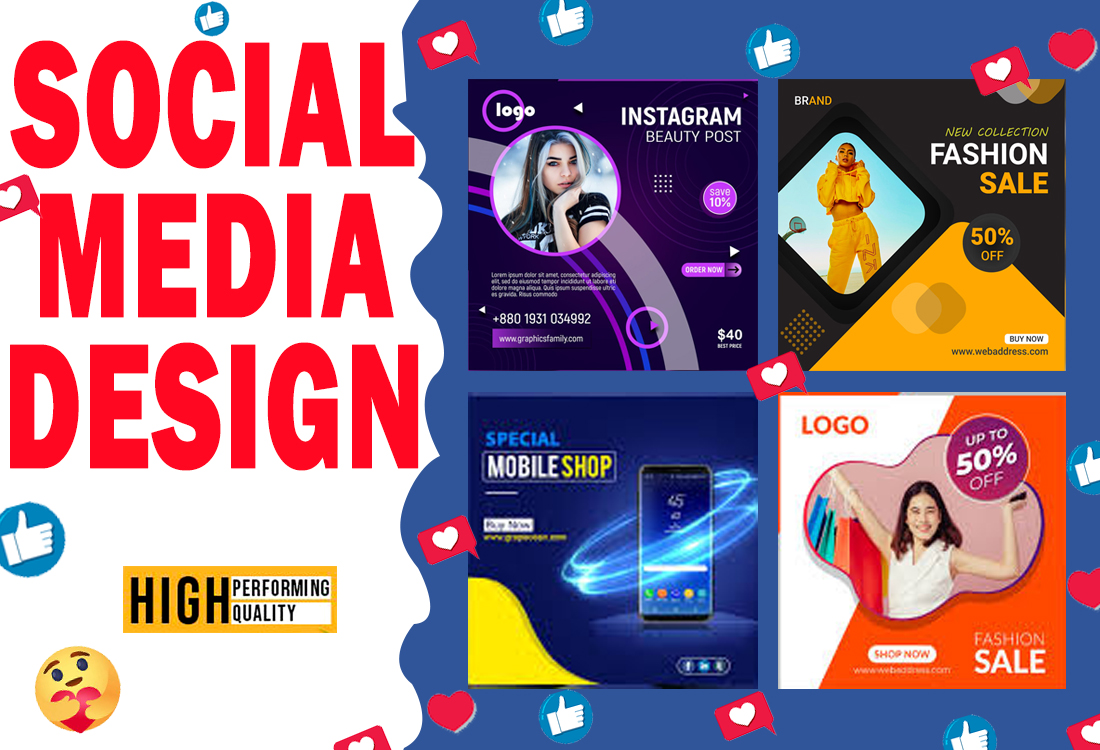 I will create social media post design for you