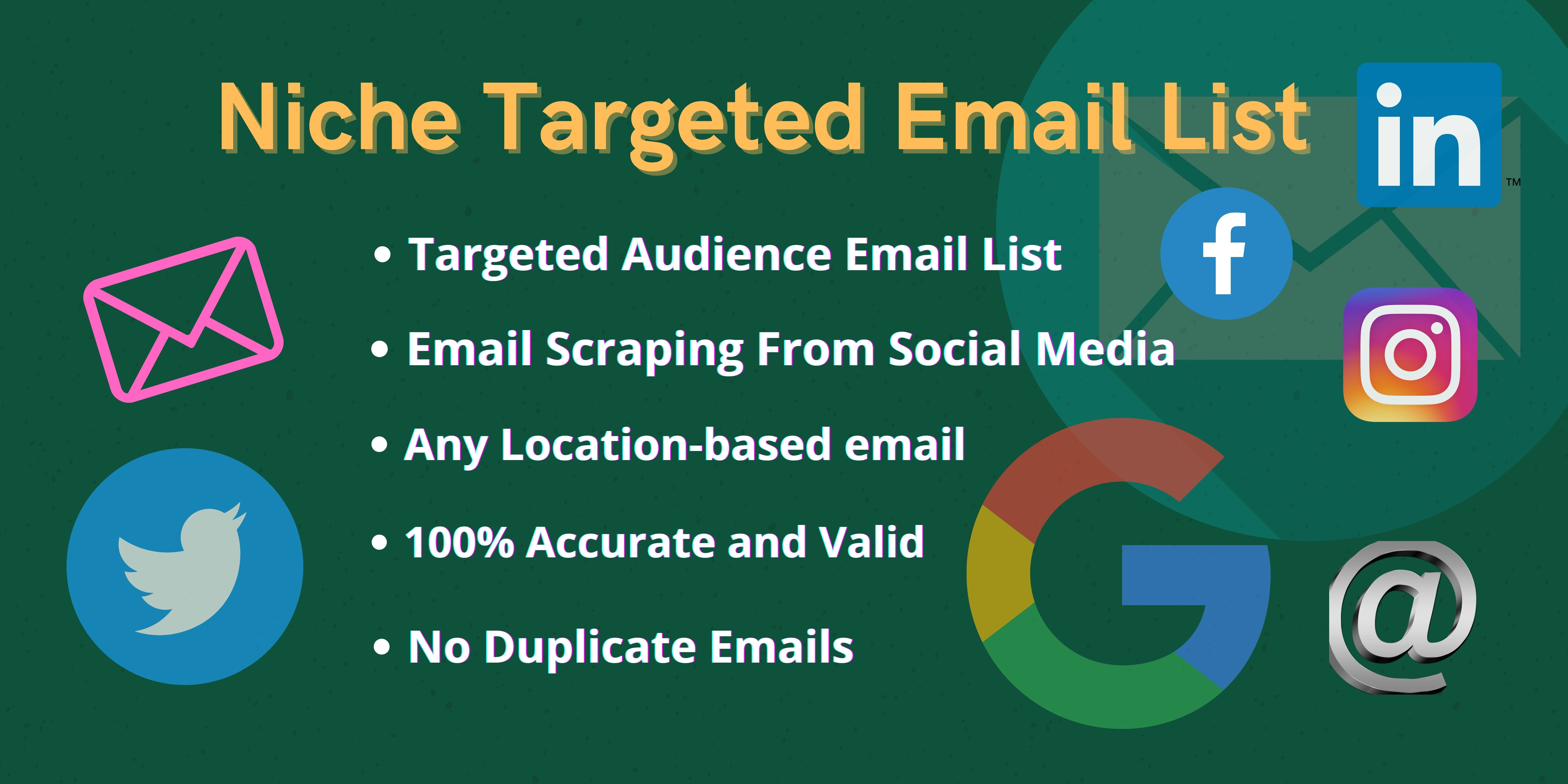 I will collect niche related and location based active email lists