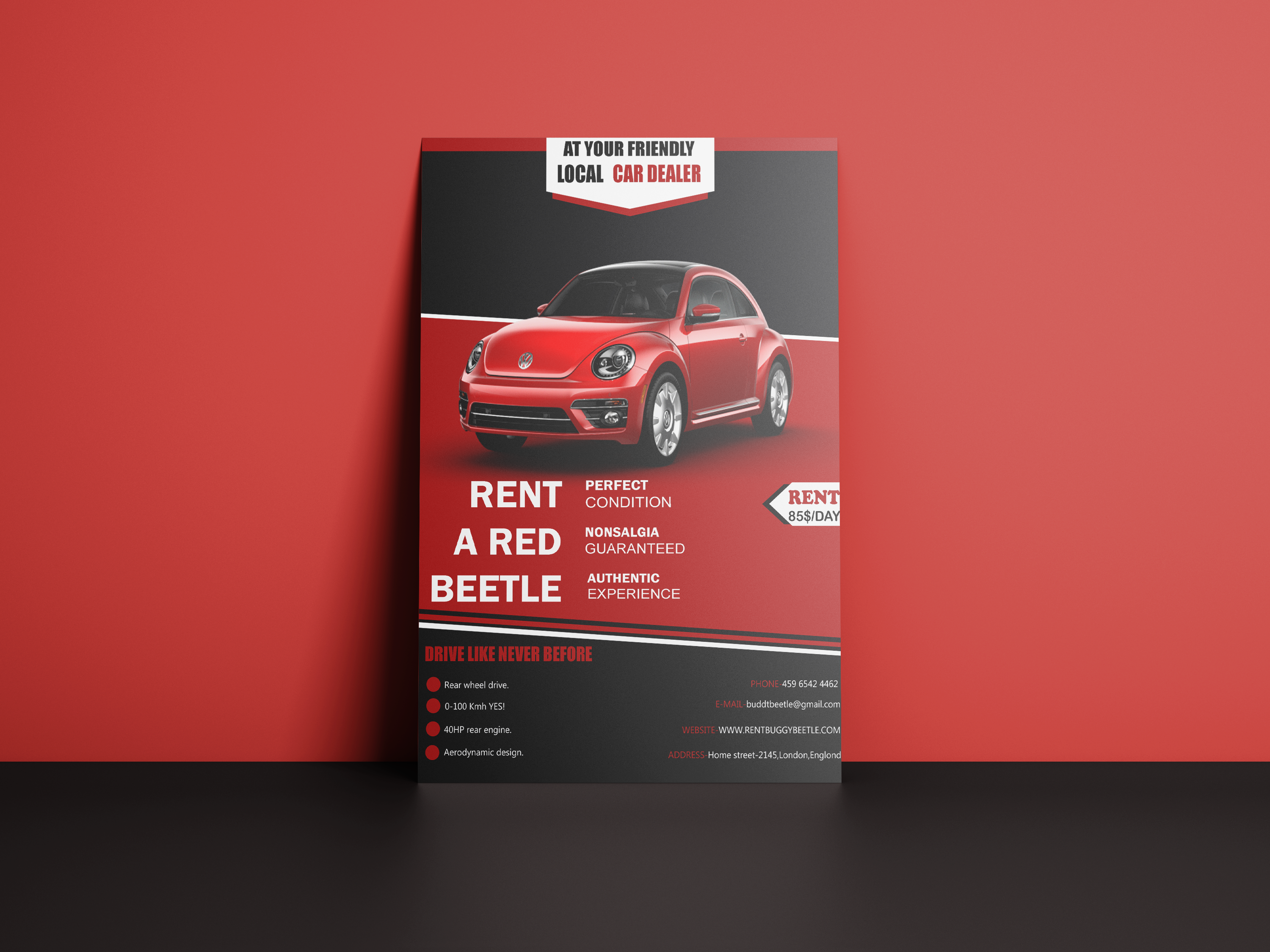 I will design creative flyers,  posters and brochures.