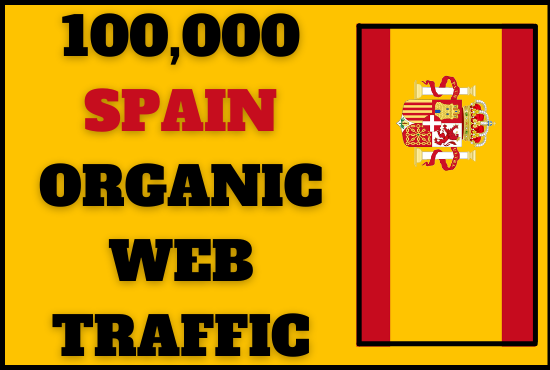 I will drive organic Spain web traffic to your website