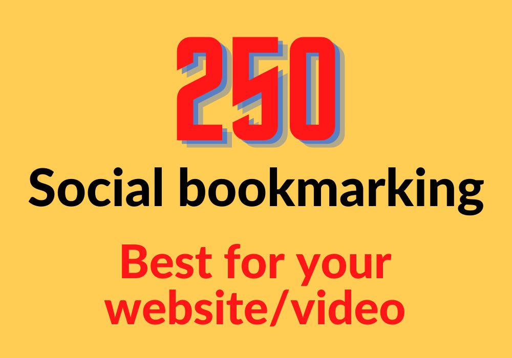 I will do high quality 250 social bookmarking live backlinks
