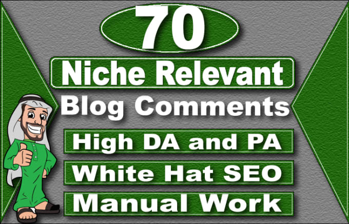 I will create 70 niche relevant low obl blog comment backlinks