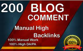 I will create 200 dofollow blog comment backlink off page seo