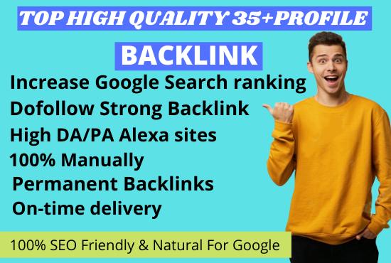I will create manually 35+TOP high quality SEO Profile backlink