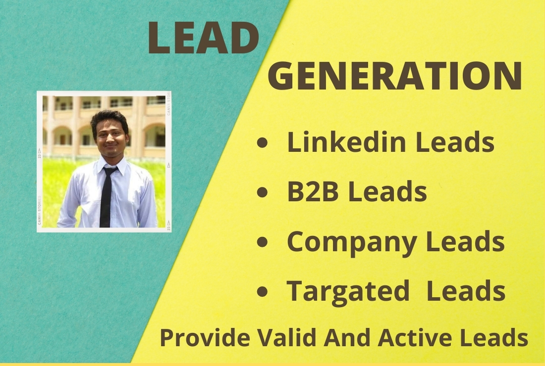 DO b2B lead generation for any targated lead